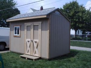 SAMPLE Shed Plans 20, 10x12 Saltbox Roof, Medium Shed, DOWNLOAD