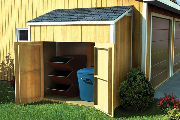 SAMPLE Shed Plans 14, 4x8 Slant Roof, Small Shed, DOWNLOAD