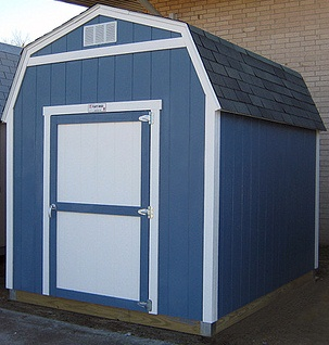 SAMPLE Shed Plans 15, 8x8 Gambrel Roof, Small Shed, DOWNLOAD