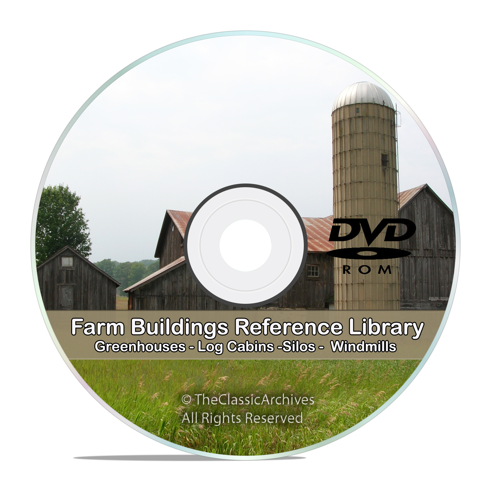 Farm Buildings, Barns, Cottage, Cabin, Poultry, Windmill, Silo, Dairy DVD