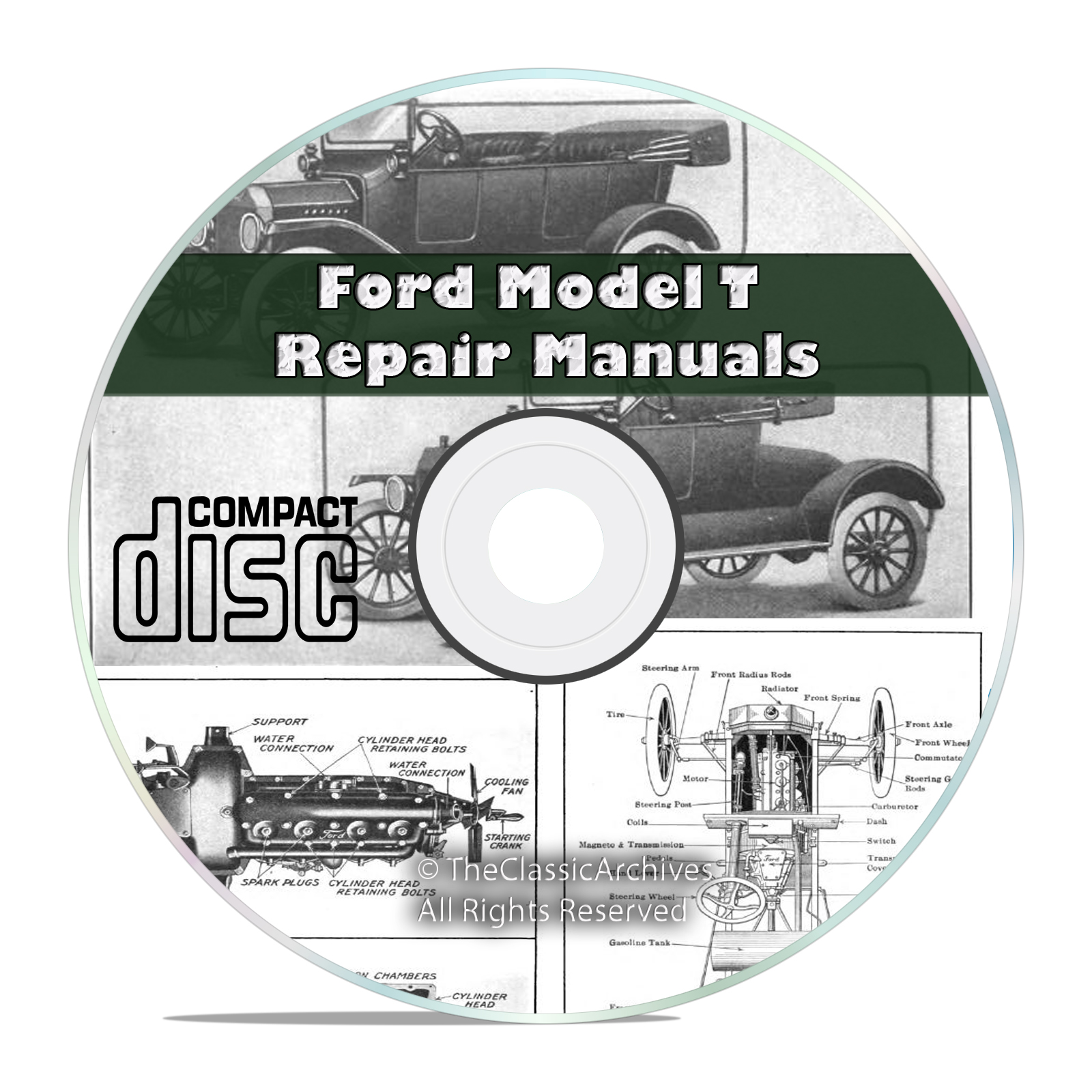 Classic Ford Model T Car Repair, Construction, Operation Manuals Books CD