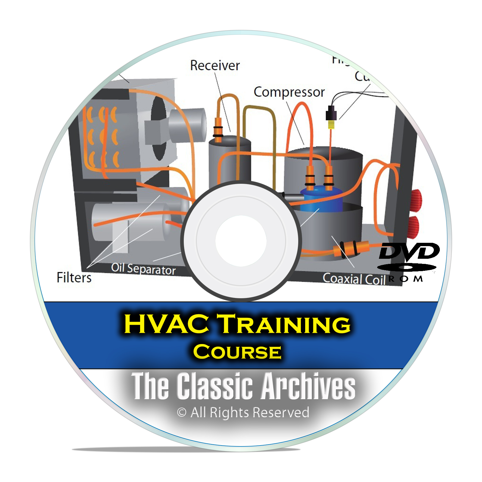 HVAC Journeyman Training Course, Heating Air Conditioning Technician DVD