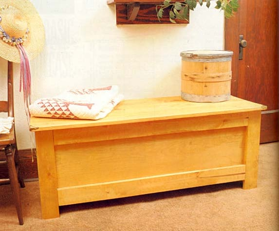 Rustic Hope Chest, Wood Furniture Plans, IMMEDIATE DOWNLOAD