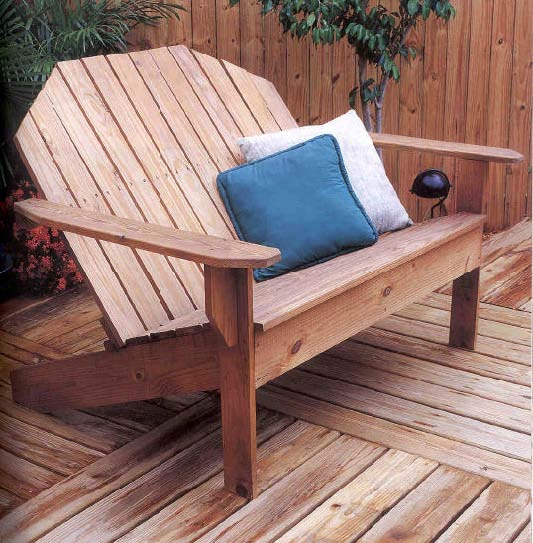 Adirondack Sofa, Outdoor Wood Plans, IMMEDIATE DOWNLOAD