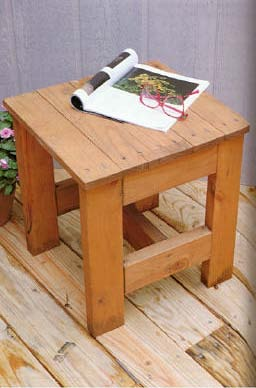 Outdoor Table Seat, Outdoor Wood Plans, IMMEDIATE DOWNLOAD