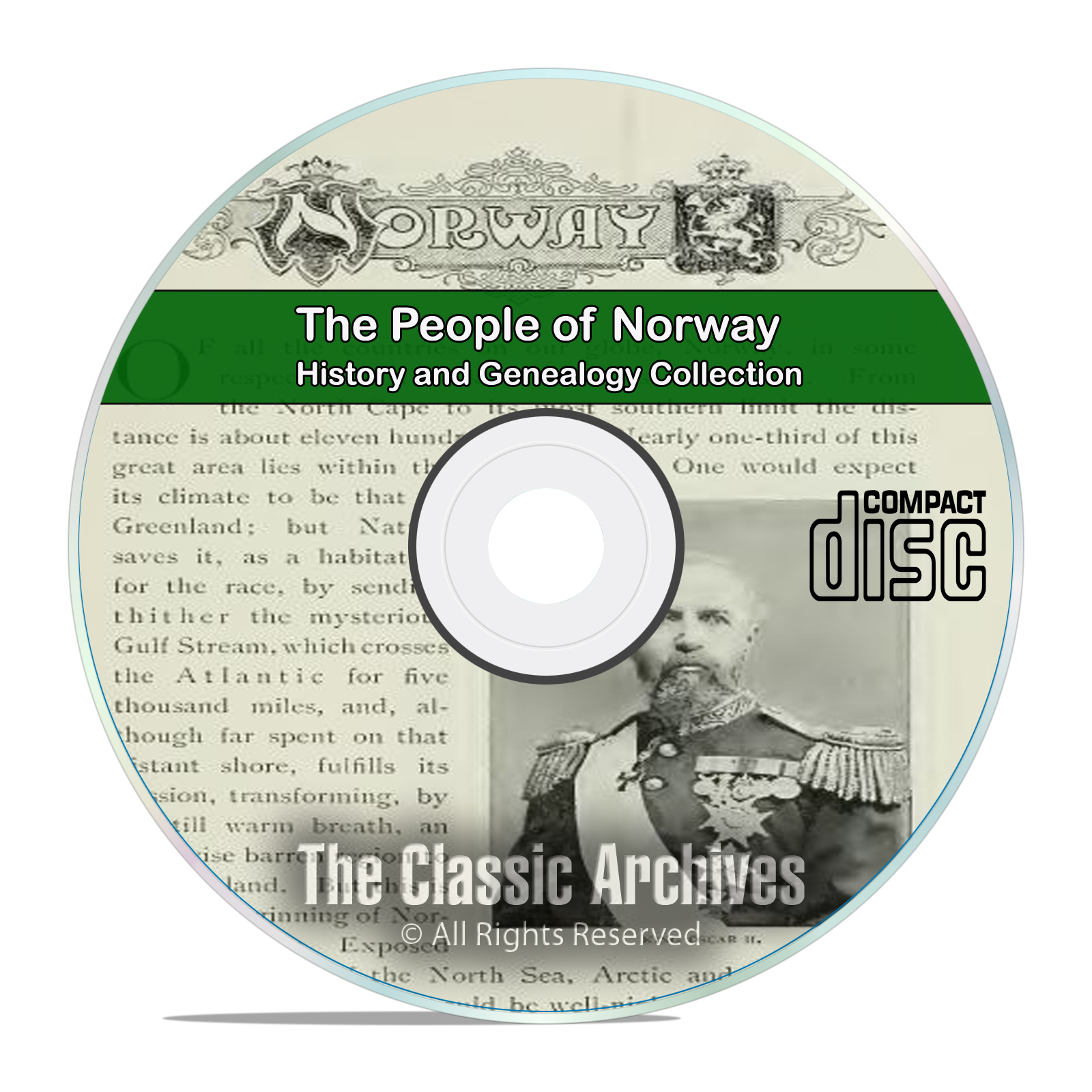 Norway, People Cities and Towns, History and Genealogy 37 Books DVD