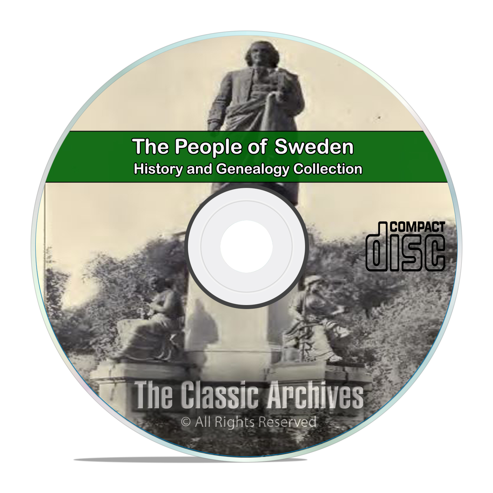 Sweden. People Cities and Towns, History and Genealogy 27 Books DVD