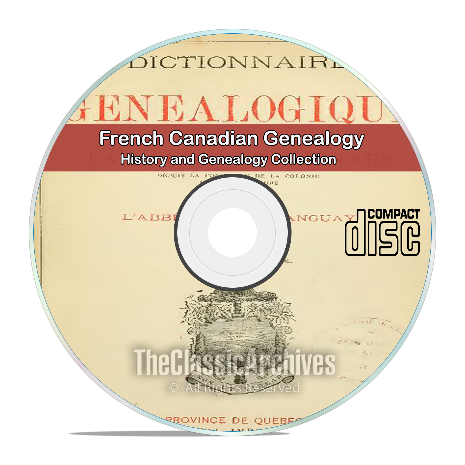 French Canadian History and Genealogy 10 classic out of print books CD