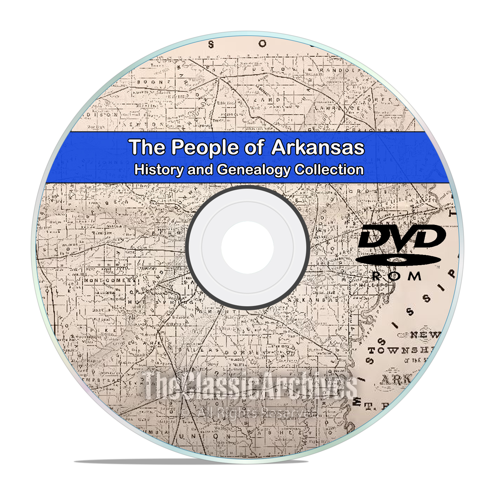 Arkansas AR, People, Cities, & Towns, History and Genealogy 28 Books DVD