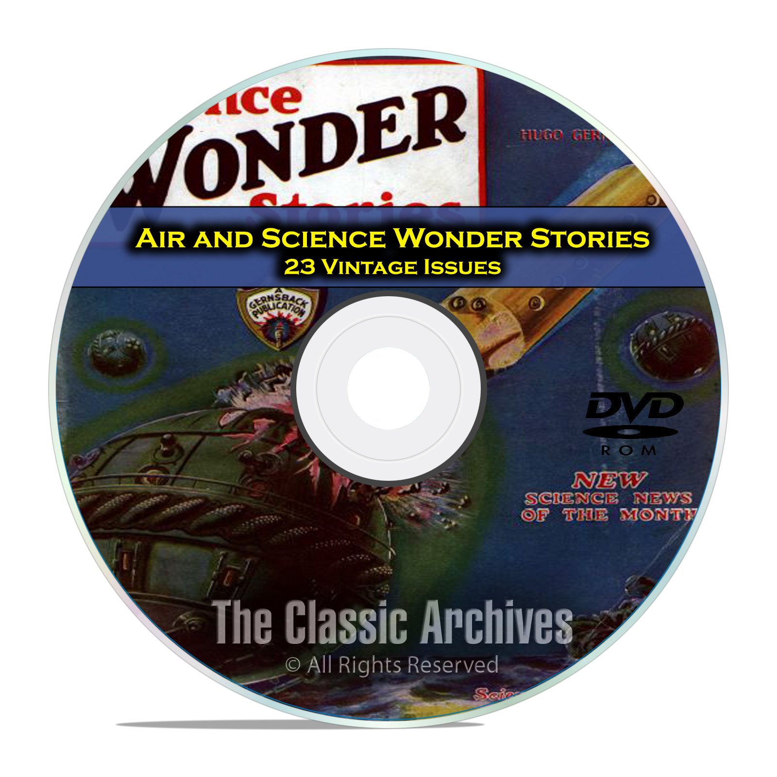 Air & Science Wonder Stories, 23 Vintage Pulp Magazine Science Fiction DVD