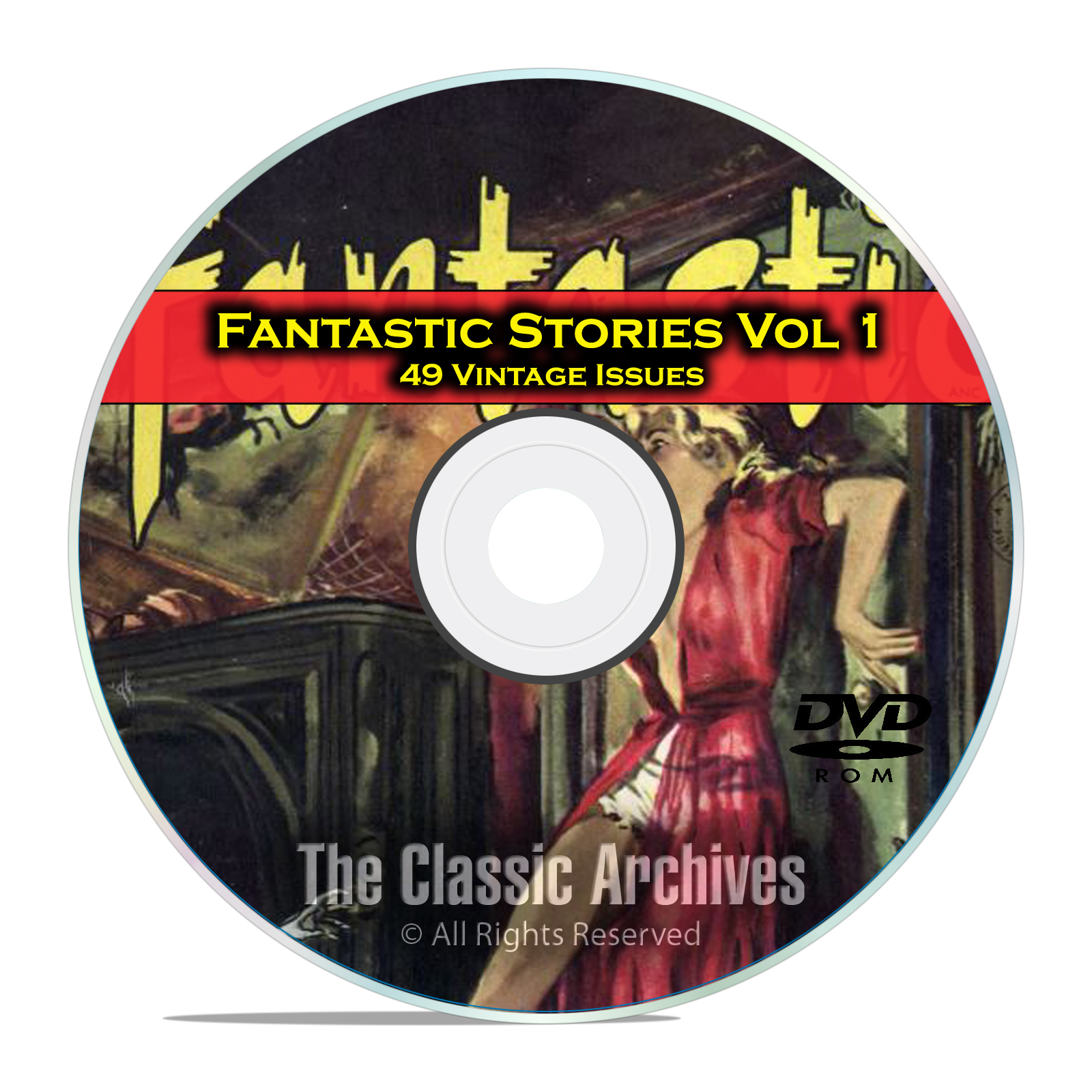 Fantastic Science Fiction, Vol 1, 49 Vintage Pulp Magazine, Golden Age DVD
