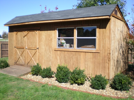 SAMPLE Shed Plans 18, 10x20 Saltbox Roof, Large Shed, DOWNLOAD