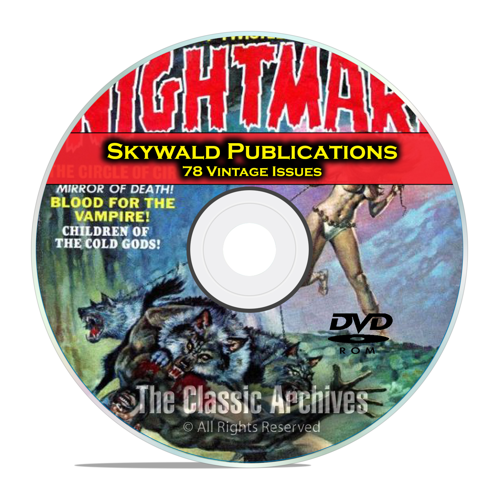 Skywald Publications, Nightmare, Psycho, Scream, 78 Golden Age Comics DVD
