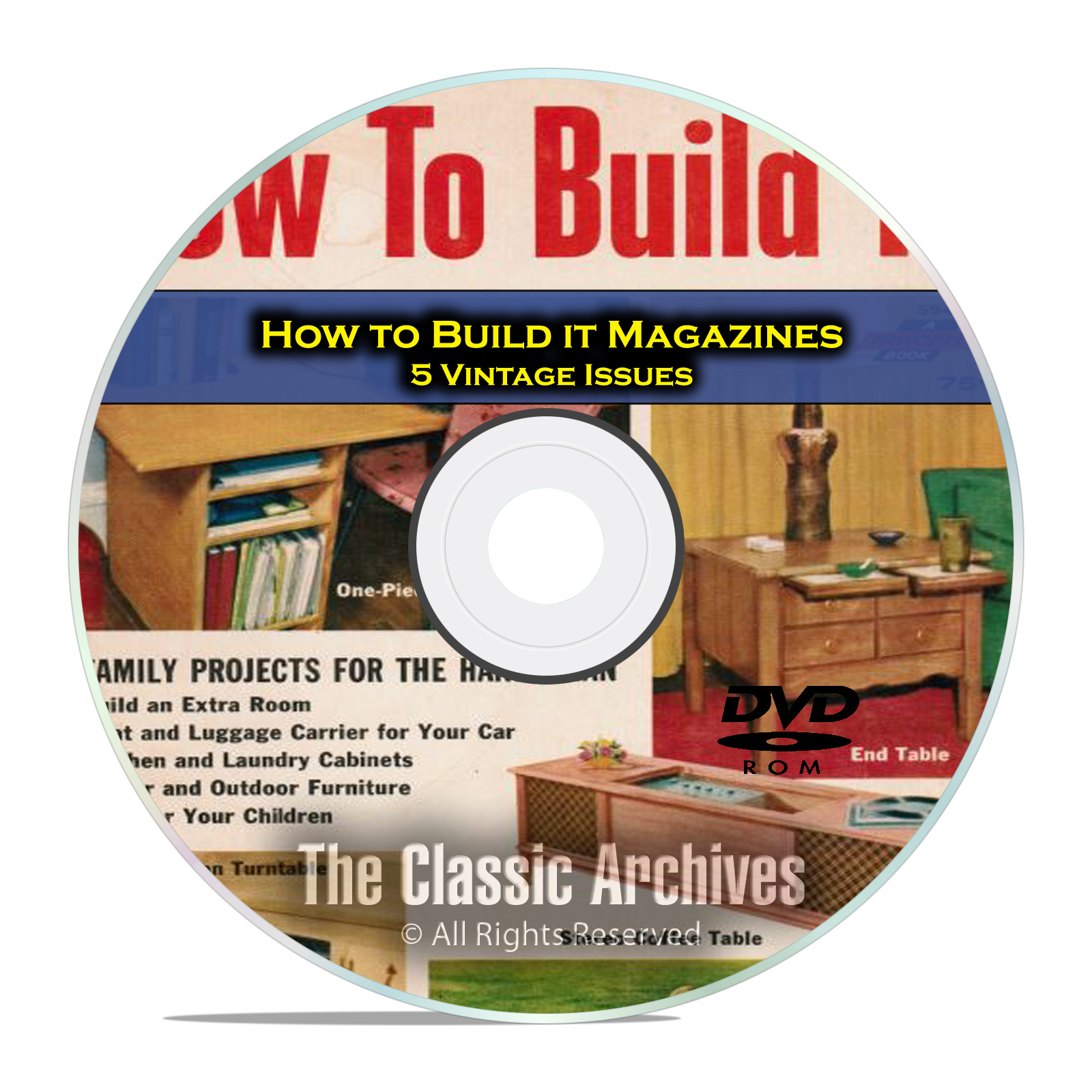 How To Build it Magazine, 5 Furniture Woodworking Magazines, PDF DVD