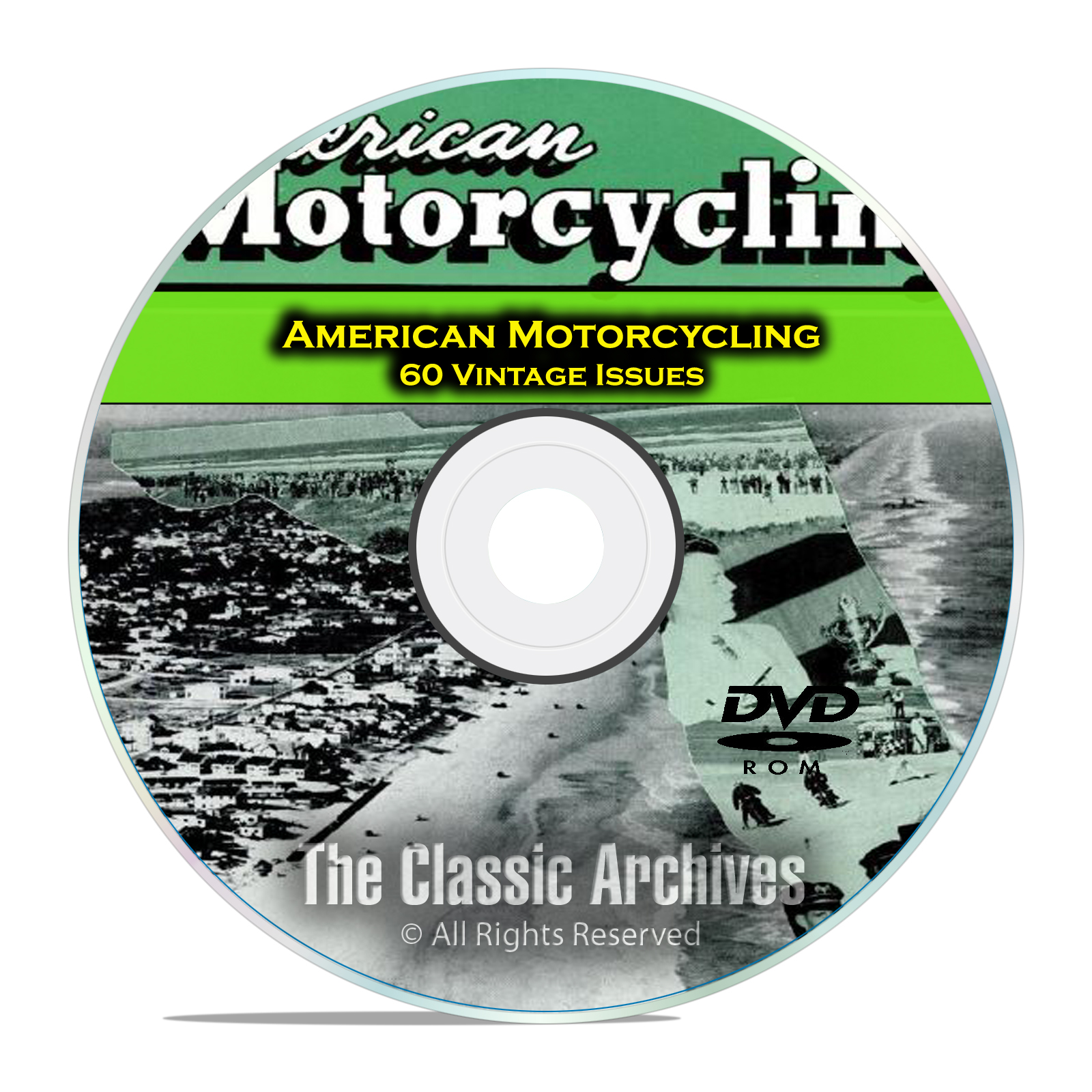 American Motorcycling Magazine, 60 Issues, 1955-1959, Americana History DVD