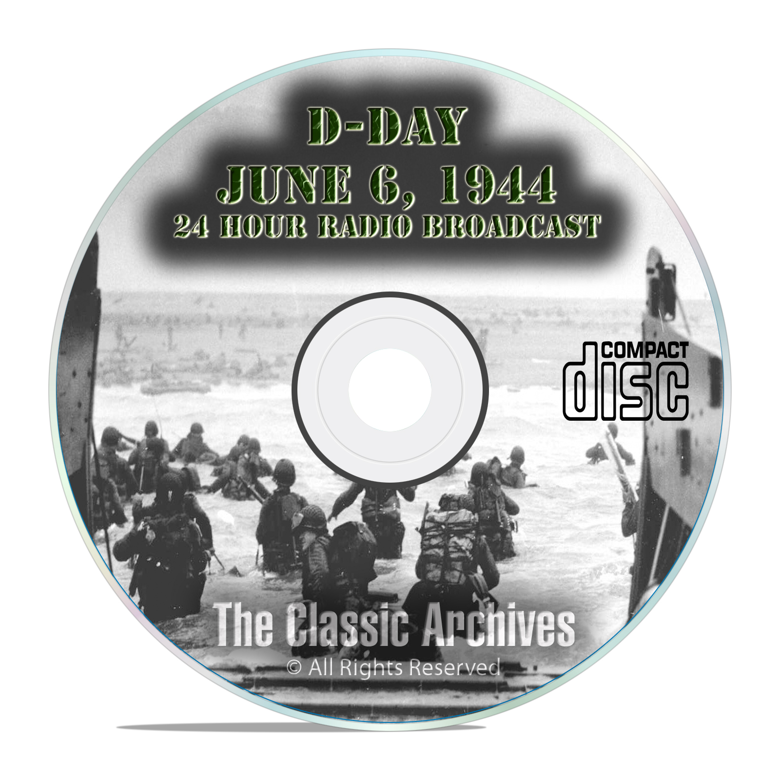 D-Day Landing WW2, June 6, 1944 Old Time Radio CBS Broadcast OTR MP3 CD