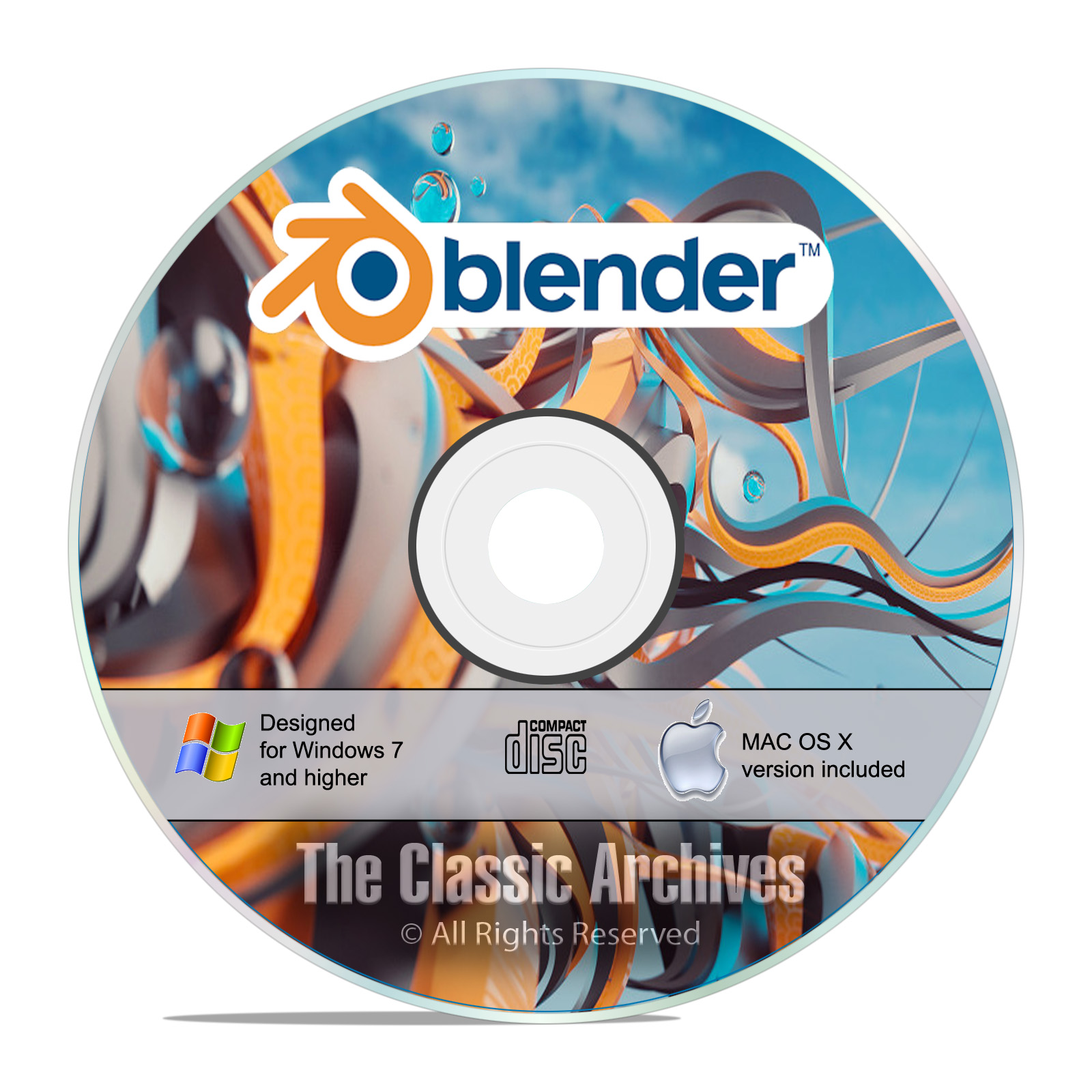 Blender, 3D Graphic Design, Animation, Video Game Creation Software, CD