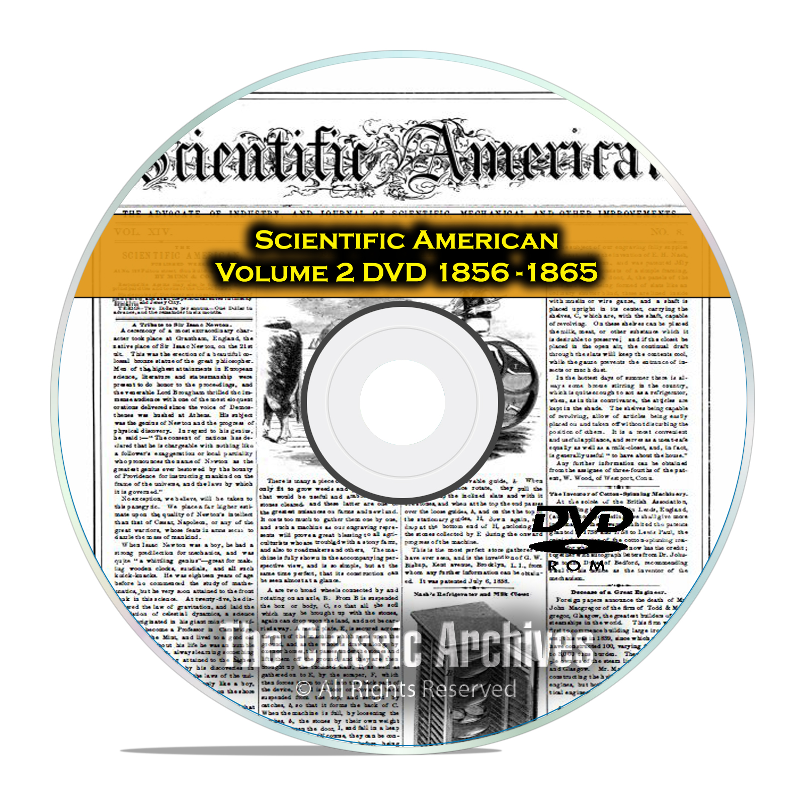 Scientific American, 484 Back Issues, 1856-1865, Vol 2, Inventions, PDF DVD
