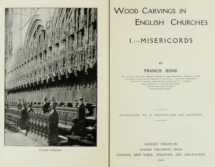 Wood Carvings in English Churches, 1910, Vintage Woodworking Book Download
