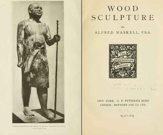 Wood Sculpture, 1911, Vintage Woodworking Book Download