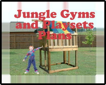 JUNGLE GYM PLANS - KIDS PLAYSETS- FORTS- CUBBYHOUSE PLANS- DOWNLOAD