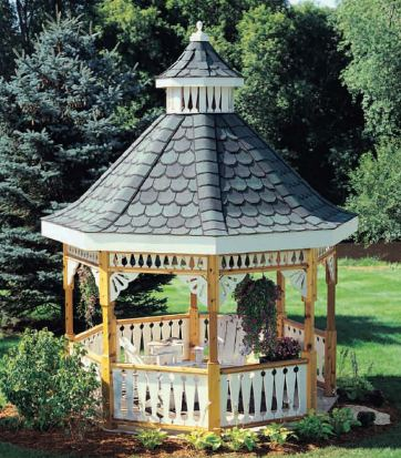 SAMPLE - Deluxe Backyard Gazebo Plan Set, DOWNLOAD