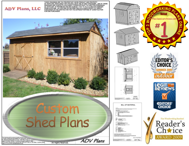 ALL OUR SHED PLANS, COMPLETE SET, DOWNLOAD